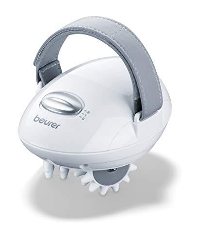 Beurer CM 50 Cellulite Massagegerät für straffere Haut, elektrischer Massageroller mit 2 Intensitätsstufen und verstellbarem Handgriff