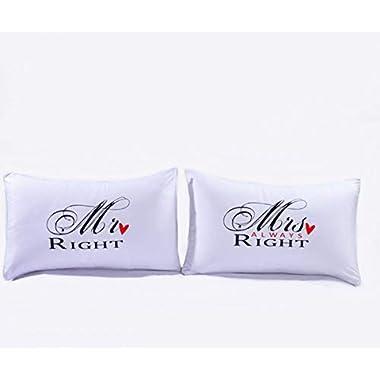 L & H household Romantic Love Pillowcases Pillowsham for Couples Lovers for Her for Him (Design C, 50 x 75cm/19.68  x 29.52 )