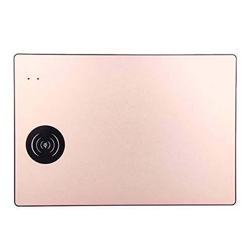 JIANYUXIN musmatta trådlös laddning musmatta mini smart trådlös mobilladdare musmatta halkfri bärbart guld