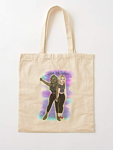 Black Sisters Matter Feminism Family Justice Love Lives Equality Political I Anh Canvas Grocery Bags Tote Bags with Handles Durable Cotton Shopping Bags
