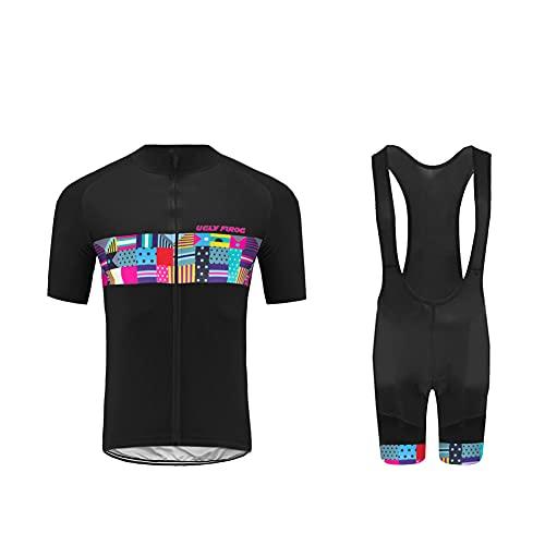Ulyfrog da Ciclismo Uomo 20D Gel Salopette Pantaloncini Corti Imbottiti Set di Abbigliamento Ciclista