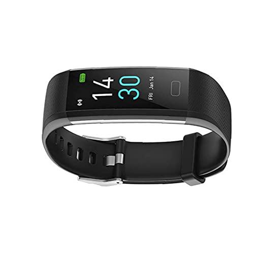 FeelMeet Temperatura Actividad Inteligente Reloj Pulsera rastreador de Ejercicios S5 de la Mujer del sueño del Ritmo cardíaco a Prueba de Agua Negro