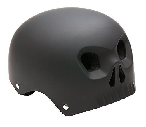 Mongoose Street Hardshell Skull Youth Bike Helmet, Matte Black