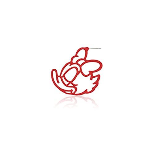LCUK Pendientes de botón llamativos Coloridos de Mickey Donald Minnie Daisy para Mujer, Nueva Tendencia, Pendientes de Animales de Dibujos Animados Bonitos para niñas, joyería
