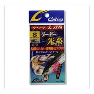 OWNER(オーナー) リーダー サワラ太刀魚 先糸 M フロロカーボン 30cm 20号 クリアー