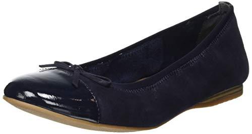 Tamaris Damen 1-1-22129-24 Geschlossene Ballerinas, Blau (Navy Pearl 877), 39 EU