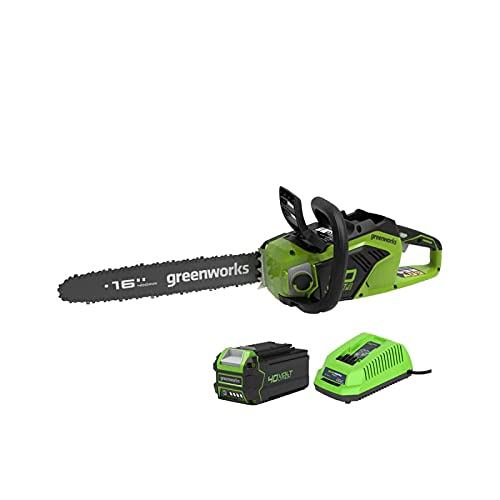 Motosierra de cadena Brushless Greenworks 40 V – 40 cm – 1 batería 4,0 Ah – 1 cargador – GD40CS18K4