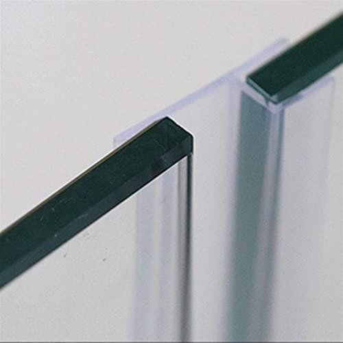 Dichtungsstreifen für Glasdichtungen, rahmenlos, Duschtür, Fenster, Balkon, Abdichtungsstreifen 6–12 mm, Dichtungsstreifen, Zugluftstopper lang 5 m, effiziente Abdichtung (Dicke: 8 mm, Breite: 20 mm)