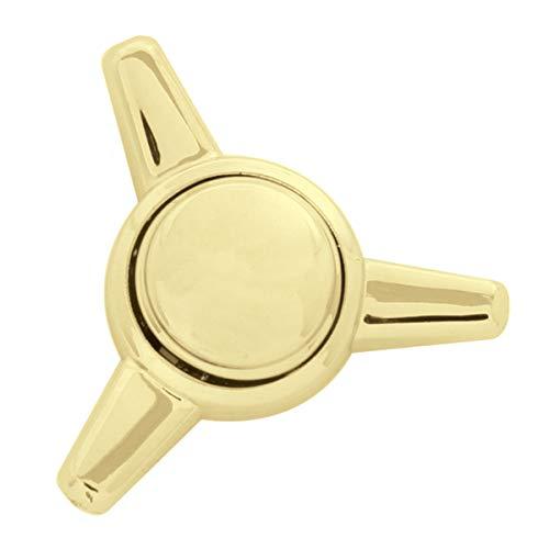 GG Grand General 50821 Goldfarbene Spinnerkappe mit Schnappverschluss.