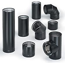 Simpson Duravent 6DVL-12 Double-Wall Air-Insulated Stove Pipe, 12
