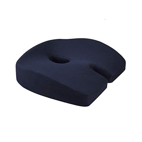 ZZBB Latex Cushion on Chair Memory Foam Slow Rebound Pressure Pillow Orthopedic Coccyx Pad Wheelchair Mats Hemorrhoid Cushion,Blue
