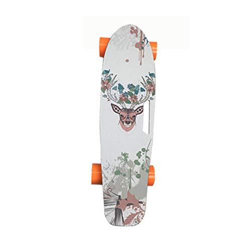 Tornado elektrisch Skateboard mit Fernbedienung, 18km/h Höchstgeschwindigkeit, 10km Max Range, Dual 500 W Motor, 5A Grade Maple mit aktualisiertem Board,4