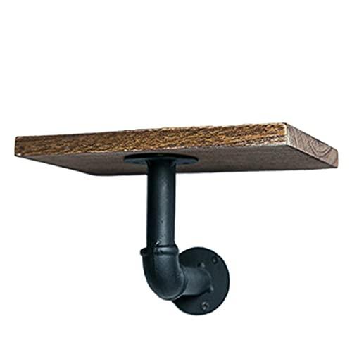 Estante de almacenamiento Estante decorativo industrial estante de hierro estante flotante tablero de partición colgando bastidores de almacenamiento con tablero de madera de madera Hermosa y duradera