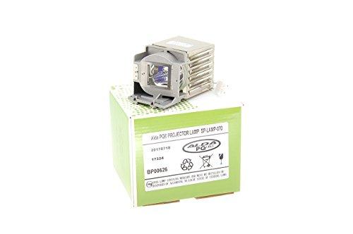 Alda PQ-Premium, Beamerlampe/Ersatzlampe kompatibel mit SP-LAMP-070 für INFOCUS IN122, IN124, IN125, IN126, IN2124, IN2126 Projektoren, Lampe mit Gehäuse