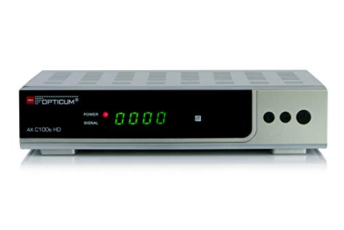 Opticum AX C100s HD DVB C Digital Kabel Receiver (HDTV, DVB-C, HDMI, SCART, PVR, USB) Silber