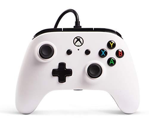 Power A Kabelgebundener Controller Offiziell von Microsoft lizenziert und Kompatibel mit Xbox One, Xbox One S, Xbox One X und Windows 10 - weiß