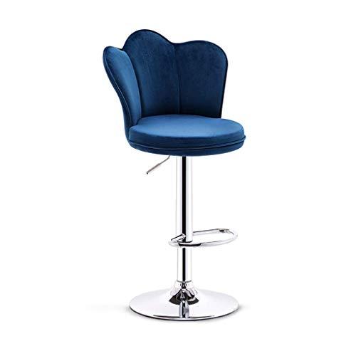 Barkruk Hoge kruk Barkruk Draaien Hefkruk Barkruk met rugleuning Bureaustoel Eetkamerstoel Tafelstoel (Color : Blue)