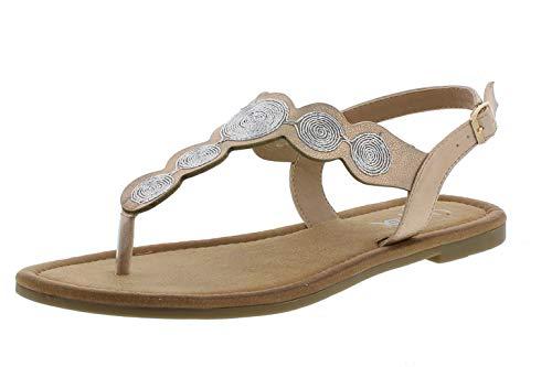 Rieker V7565 Damen Sandaletten Zehentrenner Slingsandalen, Größe:40 EU, Farbe:Rosa