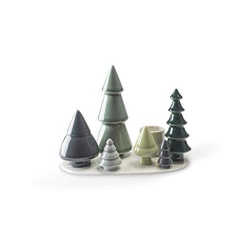 Dottir Nordic Design - Kerzenhalter - Wintergeschichten - Wald - 14 x 10 x 19 cm