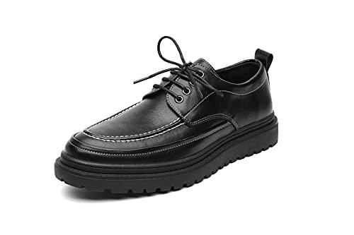 WZQDM Oxfords sin Sabor sin Sabor de los Hombres Zapatos de Encaje en la...