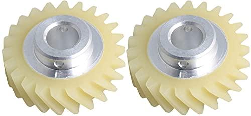 FBUWX 2 Piezas de Repuesto de Engranaje Mezclador Plateado,Repuesto Compatible para Whirlpool Eficiente