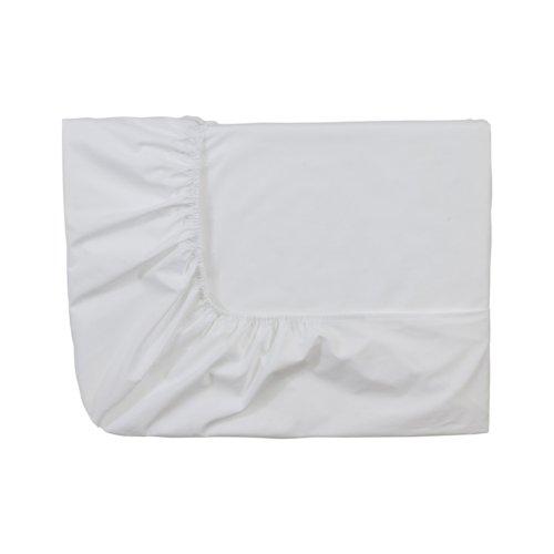 Essix Royal Line Spannbettlaken, Perkal-Baumwolle, weiß, 120 x 200 cm