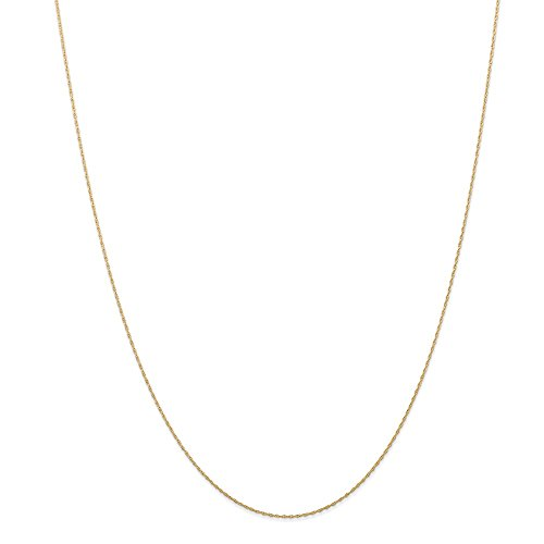 14k Yellow Gold .5 Mm Cable Link Rope Chain Necklace 18 Inch Pendant Charm Carded Fine Jewelry For Women Gifts For Her