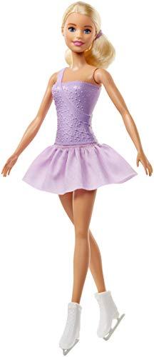 Mattel Barbie FWK90 - Figura de maniquí de patinador en color lila