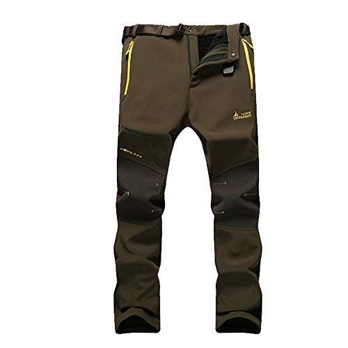 JIANYE Pantaloni Trekking Uomo Pantaloni Montagna Donna Pantaloni Outdoor Impermeabili Pantaloni Tecnici Caldi Pantaloni Invernali