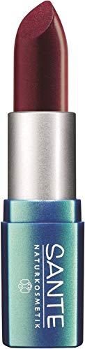 SANTE Naturkosmetik Lipstick No. 23 poppy red, Lippenstift, Transparente bis intensive Farben, Zart...