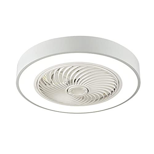 Ventilador De Techo Con Luces, Ventilador Silencioso Creativo Sigiloso Velocidad Del Viento Ajustable Lámpara De Techo LED Regulable, Atenuación, Ventilador De Techo Para Dormitorio Sala De Estar