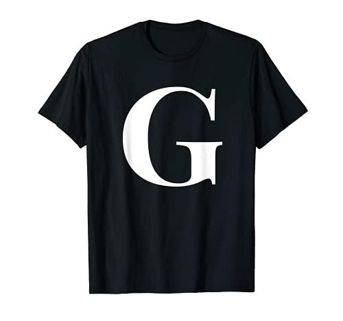 Nombre personalizado Letra inicial del alfabeto G regalo regalo Camiseta