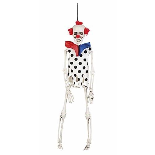 Decorazione appendibile scheletro Skeleton Clown (40 cm)