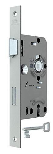 BKS Standard Zimmertürschloss/Türschloss mit Buntbart 55/72/8, Stulp: 24 x 235mm eckig für stumpfe Türen, DIN Links incl. SN-TEC® Montageset
