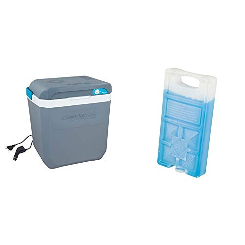 Campingaz Powerbox Plus Thermoelektrische 12V/230 V Kühlbox, Hochleistungs-Kühlbox Auto, mit UV Schutz, 28 Liter & Freeze'Pack M10 Kühlakku, Blau