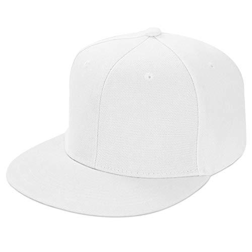 LIVACASA Basecap Snapback Herren Kappe Unisex Verstrellbar Baseball Cap für Damen Baseballkappe Sonnenschutz Täglich Cap Cappy in 6 Farben Weiß