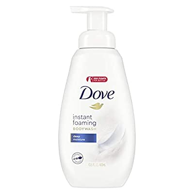 Dove Shower Foam Body Wash with NutriumMoisture Technology Deep Moisture Moisturizing Bodywash for Hydrated Skin 13.5 oz
