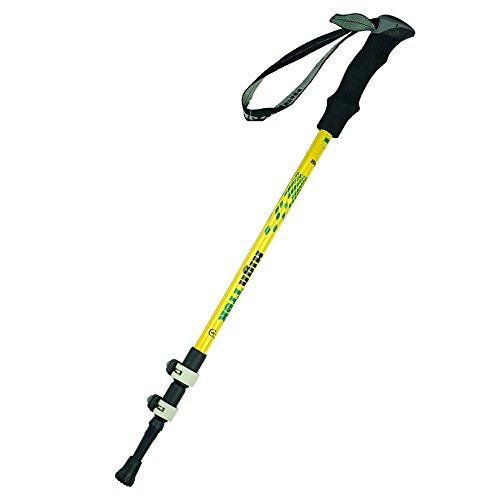 Bâtons de randonnée Réglable télescopique Réglable absorbant les chocs Non-slip bâton de marche Portable Multi-fonction pôle Trekking extérieur for les sportifs en plein air Pour la randonnée, le camp