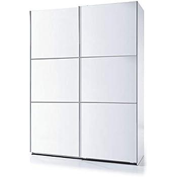 SERMAHOME- Armario 2 Puertas correderas. Color Blanco Brillo. Medidas: 120 cm Ancho, 200 cm Alto, 50 cm Fondo.: Amazon.es: Hogar