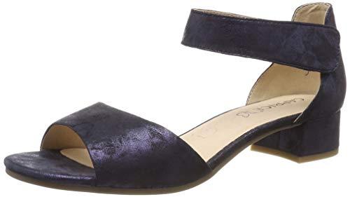CAPRICE Damen Carla Riemchensandalen, Blau (Ocean Shin.Sue 862), 38 EU