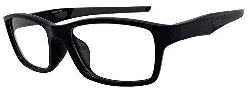 Face Trick glasses カッコいい・かけやすい老眼鏡 TR-90スポーティフレーム ストレートテンプル UV410クリア老眼鏡レンズ/ブルーライトカット鯖江メーカー高性能レンズ老眼鏡 ブラックフレーム RGC6127-1 +1.50