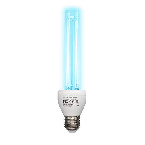 Germicidal UV Sanitizer Light Bulb 25 W 185nm/254nm with Ozone E26/E27 Socket