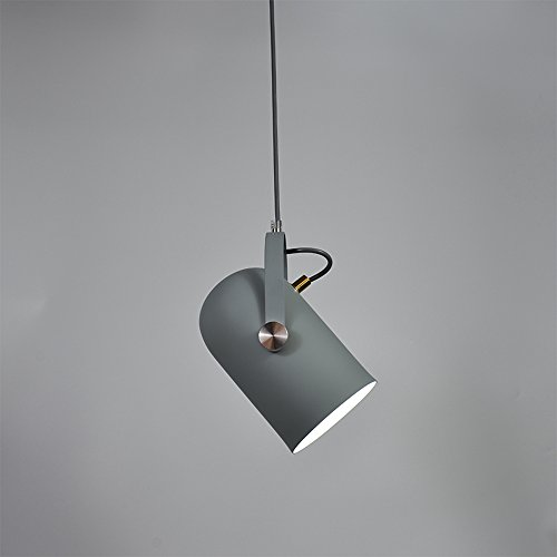 Ganeep Nordic Vertraglich Droplight Winkel Einstellbar E27 Kleine Anhänger Hängeleuchten Wohnkultur Beleuchtung Lampen Und Laternen (Color : Gray)
