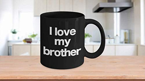 11 oz Koffie Mok, Thee Beker, Hey Brother Mok Zwarte Koffie Cup Grappig geschenk voor Grote Stap Kleine Broer Valentin