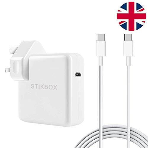 STIKBOX 30W USB C Power Delivery (PD) Wall Charger, Charger Adapter Compatible with MacBook 2015Late 12-inch & Macbook Air Charger 2018Late Work with 30W & 29W USB C Tablets & iPhone 11 & iPad Pro