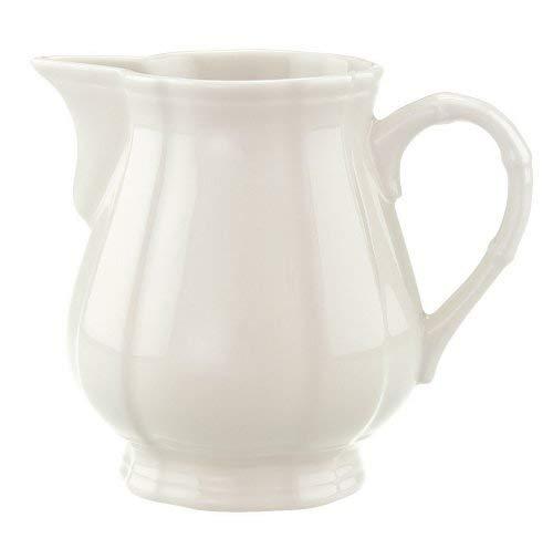 Villeroy & Boch Manoir Milchkännchen, 250 ml, Höhe: 9,1 cm, Premium Porzellan, Weiß