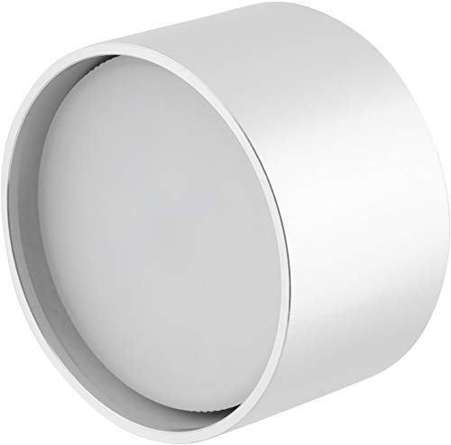 LED aluminium opbouwspot GX53 230 V - incl. LED 8W daglicht wit - behuizing rond zilver
