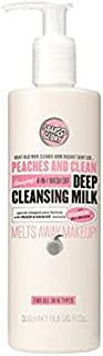 PEACHES AND CLEAN? Deep Cleansing Milk 350ml - 桃やクリーン?ディープクレンジングミルク350ミリリットル (Soap & Glory) [並行輸入品]