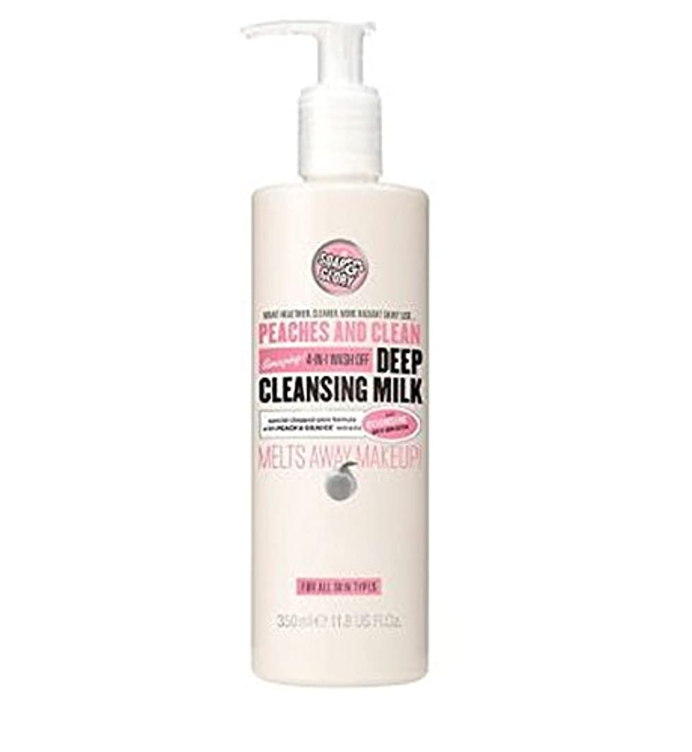 保存改修バナナPEACHES AND CLEAN? Deep Cleansing Milk 350ml - 桃やクリーン?ディープクレンジングミルク350ミリリットル (Soap & Glory) [並行輸入品]