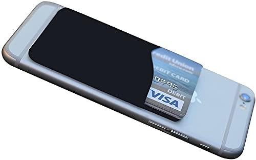 전화 케이스의 뒷면을위한 접착제 휴대 전화 지갑. 틱 실리콘 소매한 아이폰 안드로이드 및 평평한 표면 좋을 위해 신용 카드 사업 카드 돈&ID 카드(블랙 1 팩)